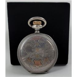 Sterling Silver Gold Ladies 0 Size Pocket Watch