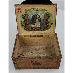 Antique Montana Sport Cigar Box