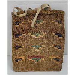 Antique Nez Perce Indian Woven Corn Husk Bag