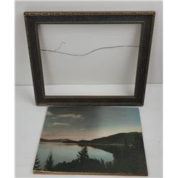 Antique Hand Tinted Sand Point Idaho Photo Himes