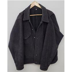 Filson USA Black Wool Mackinaw Cruiser Jacket XL