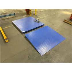 BLUE PRIME SCALES PS-IN202 INDUSTRIAL DIGITAL PALLET SCALE WITH PALLET RAMP