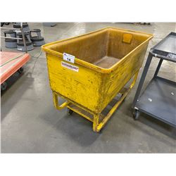 YELLOW PLASTIC / METAL MOBILE INDUSTRIAL PRODUCT CART