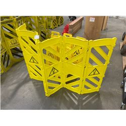 5 YELLOW WET FLOOR CAUTION SIGNS & SAFETY DIVIDER
