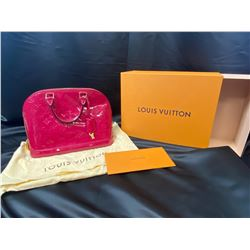 LOUIS VUITTON ALMA HANDBAG WITH DUST BAG AND BOX (AUTHENTICATION REPORT INCLUDED)