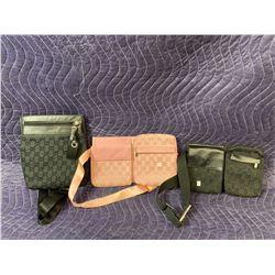 3 DESIGNER BAGS (AUTHENTICITY UNKNOWN)