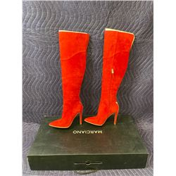 MARCIANO RED BOOTS SIZE 6M IN BOX (NEW)