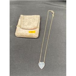 GUCCI SILVER NECKLACE IN POUCH