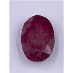 QUALITY ROUGH MINERAL POLISHED RUBY 343.30CT - 50 X 34 X 23MM, MADAGASCAR