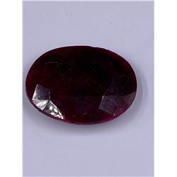 QUALITY ROUGH MINERAL POLISHED RUBY 144.55CT - 28.91G, 41 X 31 X 11MM, MADAGASCAR