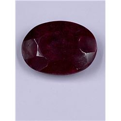 QUALITY ROUGH MINERAL POLISHED RUBY 124.55CT - 24.91G, 43 X 31 X 14MM, MADAGASCAR