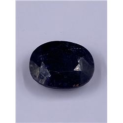 QUALITY ROUGH MINERAL POLISHED SAPPHIRE 212.95CT - 42.59G, 37 X 29 X 17MM, MADAGASCAR