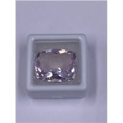 HUMONGOUS AMETHYST 21.06CT 20.9 X 17.4 X 9.3MM, LAVENDER COLOR, CUSHION SHAPE, CLARITY EYE CLEAN,