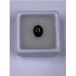 CABOCHON 6 RAYS BLACK STAR SAPPHIRE 2.75CT 8.5 X 6.6 X 4.2MM, COLOR BLACK, OVAL SHAPE, ORIGIN