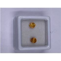 YELLOW NATURAL SAPPHIRE 2PCS./1.21CT, 5.5 X 4.5MM, GOLDEN YELLOW COLOR, OVAL CUT, CLARITY VVS,