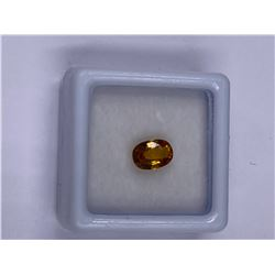 YELLOW SAPPHIRE 1.20CT 7.8 X 5.5 X 3.2MM, YELLOW COLOR, OVAL SHAPE, CLARITY VS, LUSTER STUNNING,