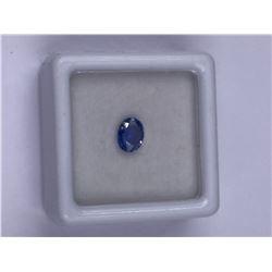 STUNNING CEYLON BLUE SAPPHIRE 0.73CT, 6.0 X 4.7 X 2.5MM, COLOR CEYLON BLUE, OVAL SHAPE, CLARITY