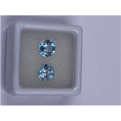FULL FIRE BABY BLUE TOPAZ 3.25CT 7.00MM, COLOR BABY BLUE, BRILLIANT ROUND CUT, CLARITY EYE CLEAN,