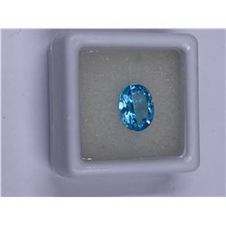 FULL FIRE BABY BLUE TOPAZ 3.05CT 10.0 X 8MM, COLOR BABY BLUE, OVAL SHAPE, CLARITY EYE CLEAN, LUSTER