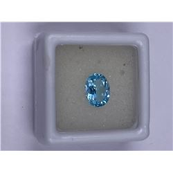 FULL FIRE BABY BLUE TOPAZ 2.30CT 9.00 X 7.00MM, COLOR BABY BLUE, OVAL SHAPE, CLARITY EYE CLEAN,