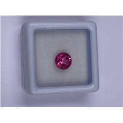 EXQUISITE PINK TOPAZ 1.51CT, 7 X 4.4MM, COLOR VIVID PINK, BRILLIANT ROUND CUT, CLARITY IF, LUSTER
