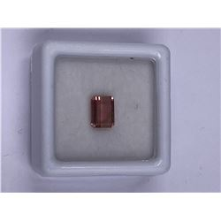 TOURMALINE 1.05CT 7.1 X 5.3 X 3.0MM, COLOR PINK, EMERALD CUT, CLARITY EYE CLEAN, LUSTER STUNNING,