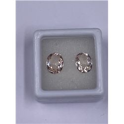 RAVISHING PINK MORGANITE 2PCS/3.47CT 9.00 X 7.00MM, PINK COLOR, OVAL SHAPE, CLARITY VVS, LUSTER