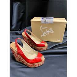CHRISTIAN LOUBOUTIN WEDGES SIZE 37