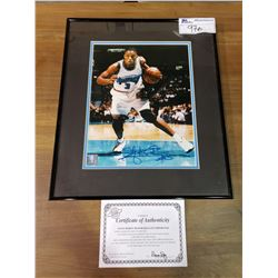 FRAMED & SIGNED POSTER WITH COA OF ABDUR-RAHIM #3 VANCOUVER GRIZZLIES