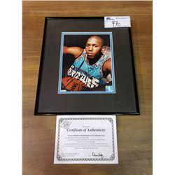 FRAMED & SIGNED FELIPE LOPEZ POSTER WITH COA OF VANCOUVER GRIZZLIES PLAYER
