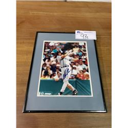 FRAMED & SIGNED PICTURE WITH COA OF ALEX RODRIGUEZ OF THE SEATTLE MARINERS