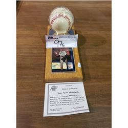 ALEX RODRIGUEZ SIGNED BASEBALL WITH COA AND HOLOGRAPHIC CARD