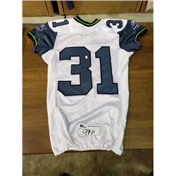 GAME ISSUED SEATTLE SEAHAWKS #31 NFL FOOTBALL JERSEY