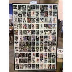 FRAMED UNCUT SHEET OF HOCKEY CARDS BRAND ULTIMATE TRADING CARD COPANY