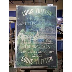 """LOUIS VUITTON PRINTED CANVAS BY OLIVER GAL WITH COA (45.5 X 30.25"""")"""