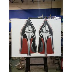 """HIGH HEEL SHOES PRINTED CANVAS (48 X 36"""")"""