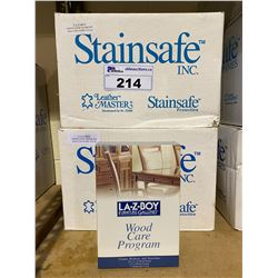 2 NEW BOXES OF LA-Z-BOY FURNITURE GALLERIES WOOD CARE PROGRAM APPROX. 24 BOXES