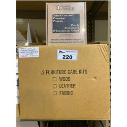 """2 NEW CASES OF LEATHER MASTER NUBUCK CARE AND PROTECTION PROGRAM FOR LEATHER TYPE """"N"""" APPROX. 24"""