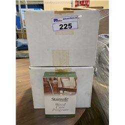 2 NEW CASES OF STAINSAFE COMPANIES WOOD CARE PROGRAM CLEANERS APPROX. 24 BOXES
