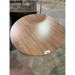 """WOODEN ROUND TABLE 47"""" DIA 29.5"""" H"""