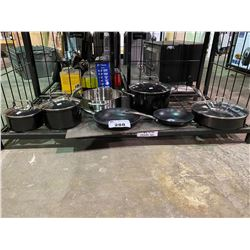 ASSORTED NEW KITCHEN AID POTS AND PANS