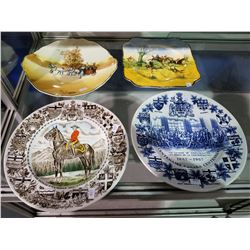 ROYAL DOULTON PLATE, CROWN DUCAL PLATE, ALPINE WHITE IRONSTONE WOOD & SONS THE ROYAL CANADIAN