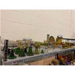 ASSORTED DISH WARE AND SHOT GLASSES