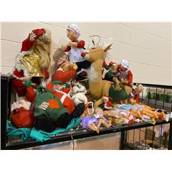 ASSORTED VINTAGE COLLECTIBLE DOLLS CHRISTMAS THEMED