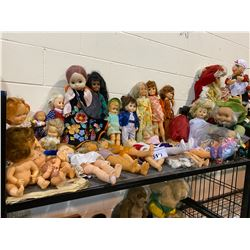 ASSORTED VINTAGE COLLECTIBLE DOLLS