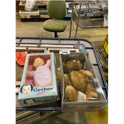 "GERBER BABY 16"" SOFT BABY DOLL & EATON ANNIVERSARY BEAR 125 YEARS"