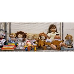 ASSORTED VINTAGE COLLECTIBLE DOLLS AND TOYS
