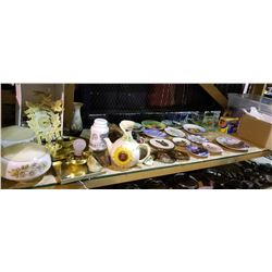 ASSORTED HOME DECOR AND DISH WARE
