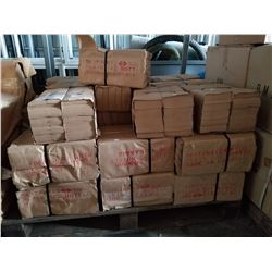 PALLET OF SMALL BROWN PAPER BAGS