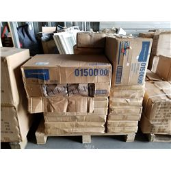 PALLET OF KIMBERLY-CLARK KLEENEX TOWELS, ROLL BAGS, ETC